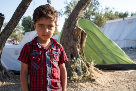 Hassan, 5, one of many children that make the journey from Syria to Greece