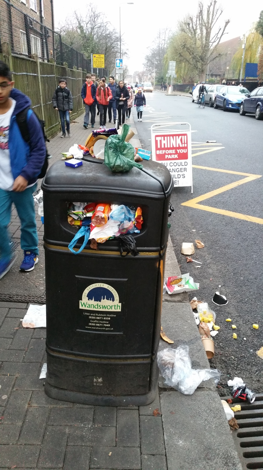 bin-outside-furzedown-school-dec-15